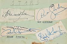 AUTOGRAPH ALBUM - INCL. FRANK SINATRA - Autograph album with signatures by actors and footballers