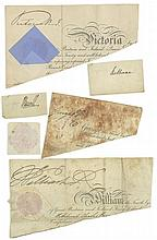AUTOGRAPH COLLECTION - INCL. KING GEORGE III - Small collection of clipped signatures by King George III