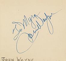 AUTOGRAPH ALBUM - INCL. JOHN WAYNE - Autograph album with signatures of American and British actors