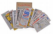 Americana. - A mixed group of Mid West and Pacific coast related railway maps, guides and timetables,