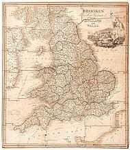 Jigsaw. Darton (William) - Brookes' Travelling Companion through England and Wales,