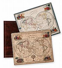 Jigsaw. 19th Century French - A boxed set of 7 jigsaw maps,