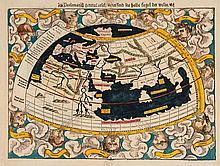 Munster (Sebastian) - Ptolemaisch general tafel begreissend die Halbe Kugel der Weldt,