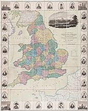 Seaton (Robert) - This New Map of England & Wales...,