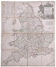 Kitchin (Thomas) - Kitchin's Enlarged Map of the Roads of England & Wales, with the exact Distances by the Mile Stones,