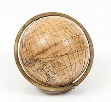 Cooks Voyages.- - Manuscript Terrestrial globe, charting James Cook's First, Second and Third Voyage,