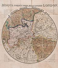 Mogg (Edward) - Mogg's Twenty Four Miles Round London & Crystal Palace Excursion Map,