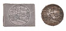 Pin cushion and needle case maps of Environs of Brighton,