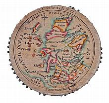 Pin cushion map of Scotland,