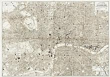 Bacon (George W.) - Gifford's Flexible Pocket Map of London,