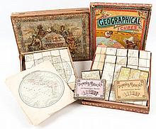 A group of 3 boxed sets of cube maps,