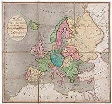 Wallis (John) - Wallis's Tour of Europe, a new Geographical Pastime,