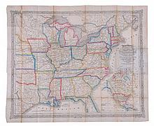 Dinsmore (A.F.) - Dinsmore's Complete Map of the Railroads and Canals in the United States & Canada,