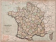 Jigsaw. Philip (George, Son & Nephew) - Eslick's Patent Dissected Map of France,