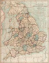 Jigsaw. Wallis (Edward) - Wallis's New Railway Map of England and Wales with Part of Scotland,