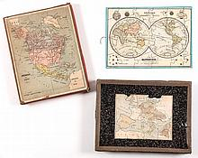 Jigsaw. Verneau (Charles) - A boxed set of 6 jigsaw maps,