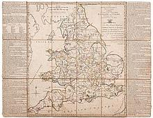 Jefferys (Thomas) - The Royal Georgraphical Pastime, Exhibiting a Complete Tour Thro' England and Wales,