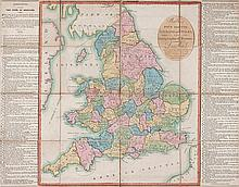 Wallis (John) - Wallis's Tour through England and Wales, a new Geographical Pastime,