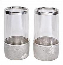 A pair of insulated perspex white wine coolers on