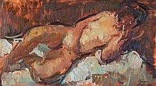Martin Yeoman (b. 1953) - Reclining nude