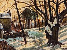 Jean Puy (1876-1960) - Niege dans les Louveciennes