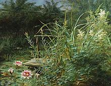 Anthonore Eleanore Christensen (1849-1926) - The mill stream at Stromdmollen