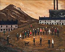 Jack Jones (1922-1993) - Industrial landscape with figures