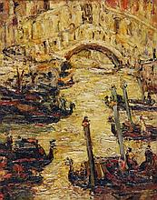 Stanley Grimm (1891-1966) - Bridge of Sighs, Venice