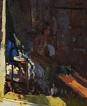 Peter Kuhfeld (b. 1952) - In Cathryn's studio