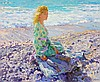 Yuri Krotov (b. 1964) - Young lady at the seaside