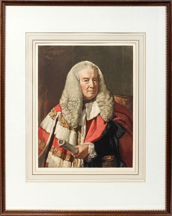 T. HAMILTON CRAWFORD, COLOR MEZZOTINT,