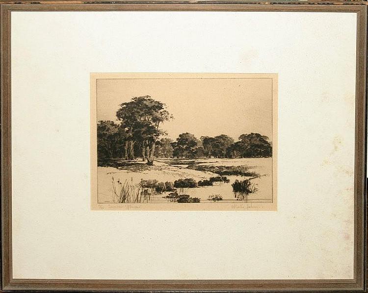 WINSTON HABERER [AMERICAN B. 1905], DRYPOINT, 6
