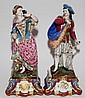 FRENCH PORCELAIN FIGURES, 19TH C., PAIR, H 22