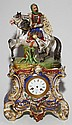 FRENCH PORCELAIN FIGURAL CLOCK IN THE MANNER OF JACOB PETIT, 19TH C., H 19