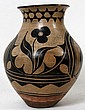 SANTO DOMINGO NATIVE AMERICAN POTTERY JAR, H 9 1/2