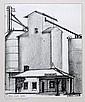 CAROL WALD, CHARCOAL GRAIN ELEVATOR IN FUNK'S  GROVE ,IL, 1981 13