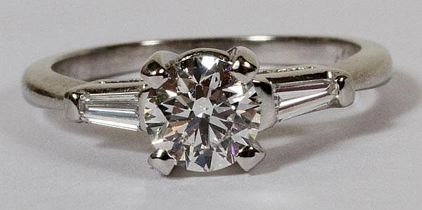 .74CT EXCELLENT CUT DIAMOND RING, 6, GIA