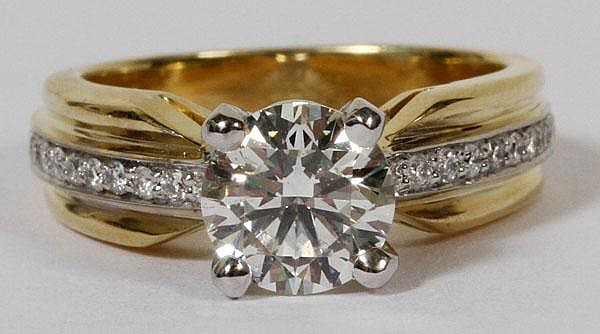 1.26CT DIAMOND RING, 5 1/2