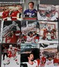 DETROIT RED WING STANLEY CUP PLAYER CELEBRATION COLOR PHOTOS, LATE 20TH C, 9 PCS., H 10