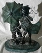 AFTER A. MOREAU, BRONZE SCULPTURE,