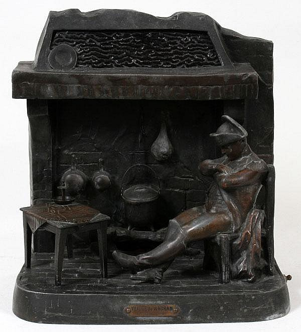 AFTER SALESIO, IRON FIGURAL LAMP, NAPOLEON, H 15