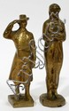 BELGIUM BRONZE HAND MADE FIGURES, TWO 5 1/2
