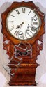 BURL WALNUT WALL CLOCK, H 31