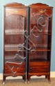 MAHOGANY OPEN BOOKCASES, PAIR, H 49