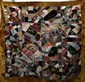 PIECED & EMBROIDERED CRAZY QUILT, SIGNED & DATED 1887, 64