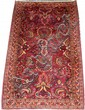 SAROUK PERSIAN RUG, ANTIQUE, 4' 0