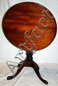 ANTIQUE QUEEN ANNE STYLE MAHOGANY TILT TOP TABLE,