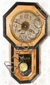SETH THOMAS OAK HANGING CLOCK, H 21
