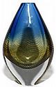 SVEN PALMQUIST (1906-1984) FOR ORREFORS GLASS VASE, H 7 1/4