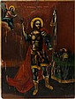 RUSSIAN ICON OF SAINT JOHN THE WARRIOR, C. 1850, 21